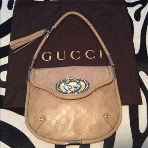 Pristine Gucci Guccissima Leather Shoulder Bag